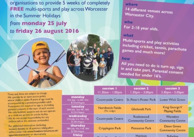 WORCESTER SPORT, ART AND PLAY