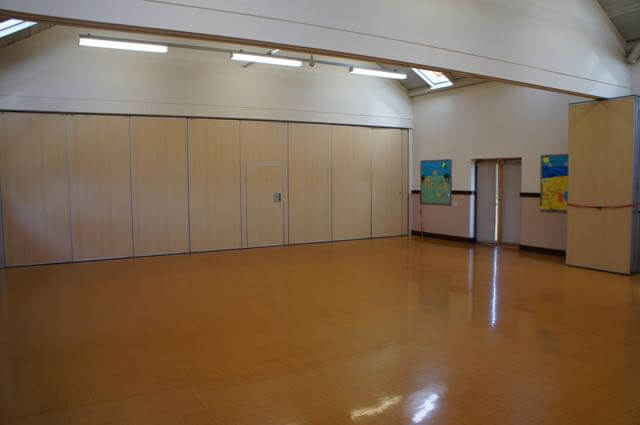 Main Hall with partition 1 in place