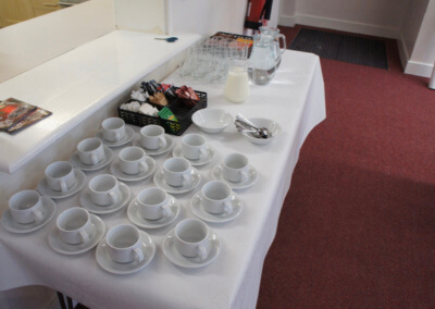 Refreshments at KGV