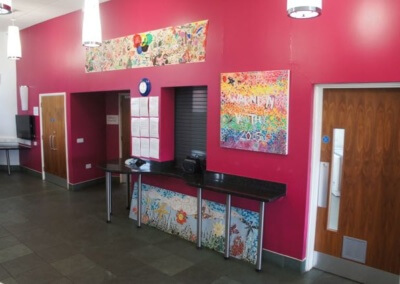 Warndon Hub Cafe Area