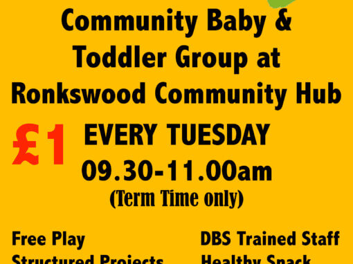 RONKSWOOD TODDLER GROUP – Tuesdays