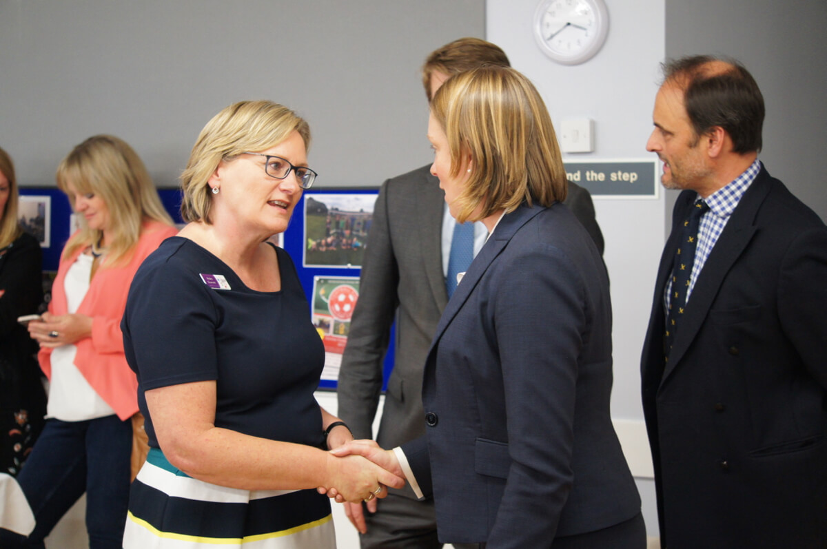 Tracey Crouch MP and Helen Scarrett