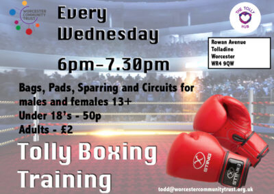 TOLLY BOXING TRAINING – Wednesdays