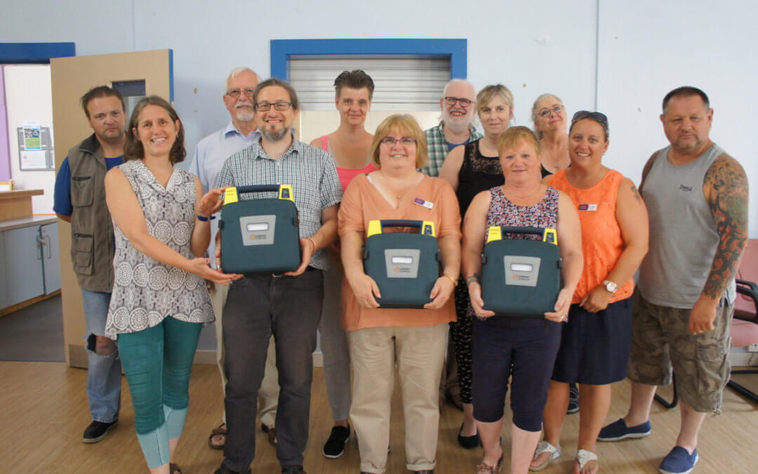 Fantastic volunteer effort to provide defibrillators