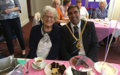 Friends, Family, Councillors, The Mayor and WCT celebrate 100th Birthday