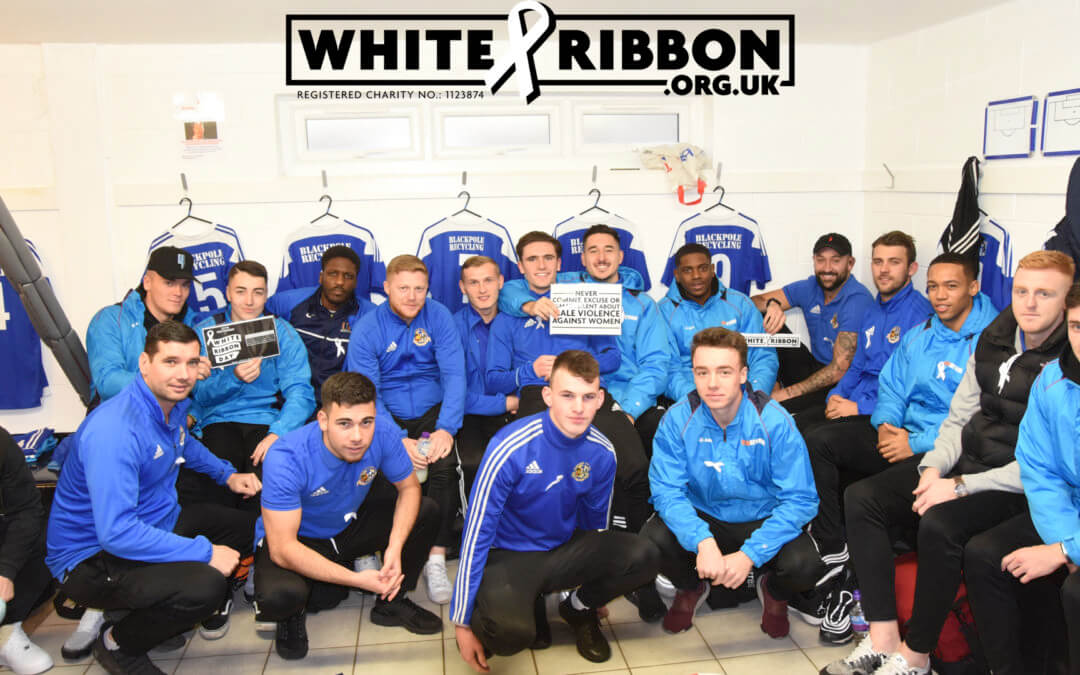 Worcester City FC join us to support White Ribbon Campaign