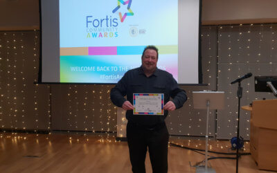 Volunteer recognised at Fortis Awards Night