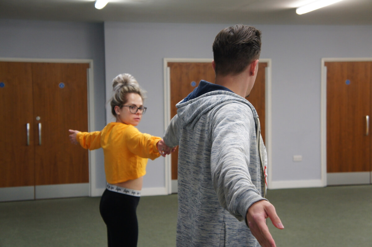 Jack and Grace practise for Strictly
